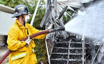 Fire Explorer using hose