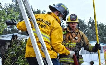Fire Explorers working