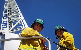 Fire Explorers and ladder
