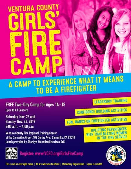 Girls Fire Camp Flyer