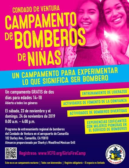 Girls Fire Camp Flyer SPANISH