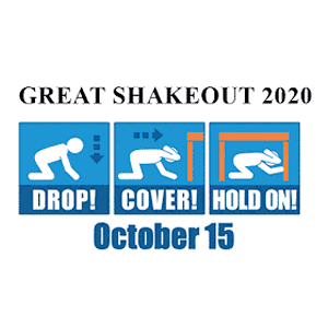 Great Shakeout 2020 October 15