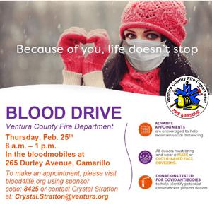 Blood Drive flier