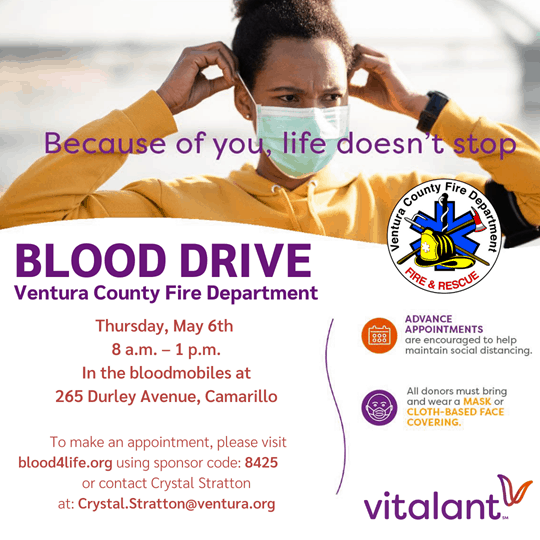 Blood Drive - May 6, 2021